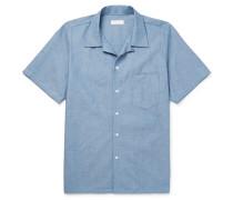 Camp-collar Cotton-chambray Shirt