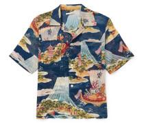 Crossing The Seven Seas Camp-collar Printed Cotton Shirt