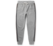 + Todd Snyder + Champion Harry's Slim-fit Tapered Fleece-back Cotton-blend Jersey Sweatpants - Gray