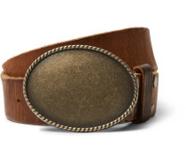 + Jean Shop Statesman 4cm Brown Leather Western Belt