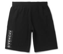 Wide-Leg Logo-Print Loopback Cotton-Jersey Shorts