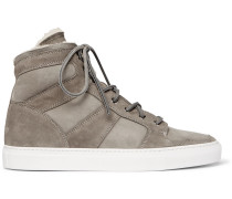 Seaham Ii Shearling-lined Suede High-top Sneakers