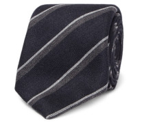 8cm Striped Silk And Cashmere-blend Tie