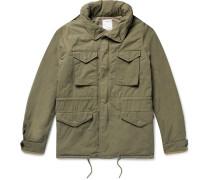 Cotton-blend Hooded Field Jacket
