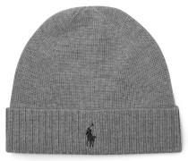 Merino Wool Beanie - Gray