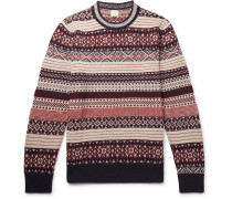 Davidstow Fair Isle Wool And Alpaca-blend Sweater