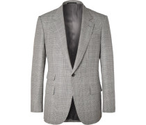 Eggsy's Grey Prince Of Wales Checked Wool And Linen-blend Suit Jacket