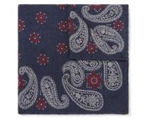 Paisley-print Wool Pocket Square