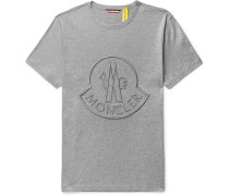 2 Moncler 1952 Logo-embroidered Cotton-jersey T-shirt