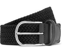 3.5cm Midnight-Blue Woven Waxed-Cord Belt