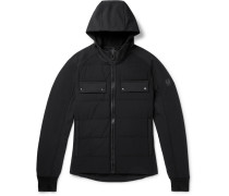 Slim-fit Quilted Shell Hooded Down Jacket - Black