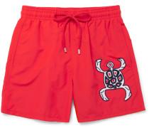 Motu Slim-fit Mid-length Appliquéd Swim Shorts