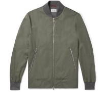 Slim-fit Cotton-blend Bomber Jacket
