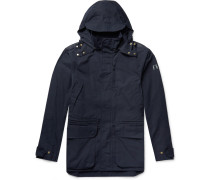 Cotton-canvas Hooded Jacket - Navy