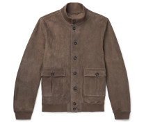 Valstarino Slim-Fit Unlined Suede Bomber Jacket