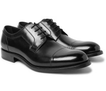 Algy Polished-leather Derby Shoes - Black