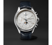 Clifton Automatic Chronograph 43mm Stainless Steel and Alligator Watch, Ref. No. 10408