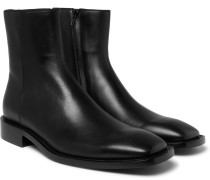 Polished-leather Boots - Black