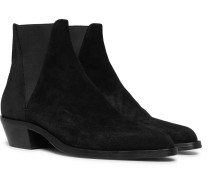 Dakota Brushed-suede Chelsea Boots - Black