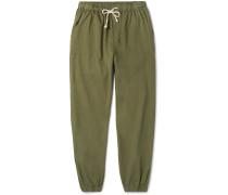 Jeffrey Tapered Cotton-Twill Drawstring Trousers