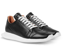 Oblique Leather Sneakers