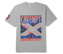 Printed Mélange Cotton-Jersey T-Shirt