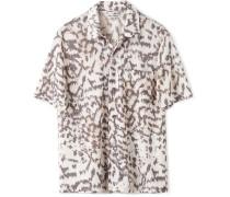 Tiger-Print Woven Shirt