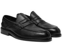 Adam Pebble-Grain Leather Penny Loafers