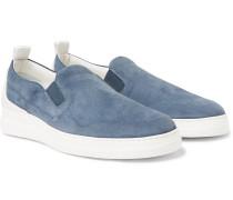 Radial Spoiler Suede Slip-On Sneakers
