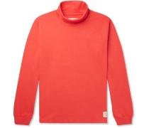 Mock-Neck Cotton-Jersey T-Shirt