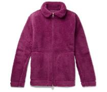 Fleece Zip-up Sweater - Pink