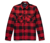 Checked Cotton-flannel Overshirt
