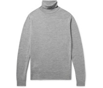 Cherwell Mélange Merino Wool Rollneck Sweater - Gray