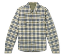 Evolution Reversible Organic Cotton-flannel And Quilted Shell Jacket - Green
