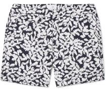 Leaf Mid-length Printed Shell Swim Shorts