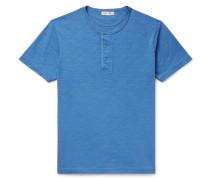 Slub Cotton-jersey Henley T-shirt