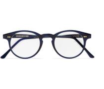 Round-frame Acetate Optical Glasses - Navy