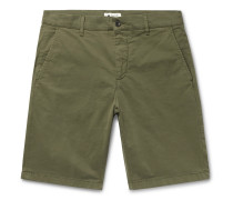 Crown Garment-Dyed Cotton-Blend Twill Shorts