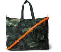 Camouflage-Print Shell Tote Bag