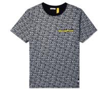 Moncler 7 Fragment Oversized Logo-print Cotton-jersey T-shirt - Black