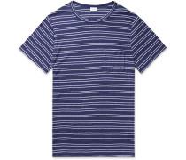 Chad Striped Linen-Blend Jersey T-Shirt