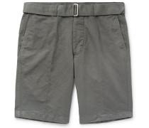 Julian Slim-fit Slub Cotton And Linen-blend Shorts