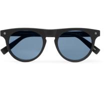 D-frame Matte-acetate Sunglasses - Blue