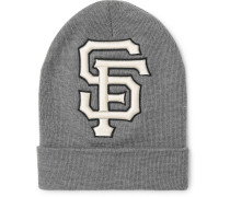 + San Francisco Giants Logo-appliquéd Wool Beanie - Gray