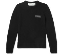 Logo-Print Cotton Sweater