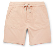 Sigma Wide-leg Loopback Cotton-jersey Drawstring Shorts