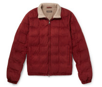 Quilted Suede Bomber Jacket