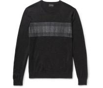 Slim-fit Felt-panelled Merino Wool Sweater
