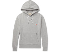 Mélange Loopback Cotton-jersey Hoodie - Gray