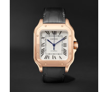 Santos Automatic 35.1mm Rose Gold Interchangeable Alligator and Leather Watch, Ref. No. WGSA0012